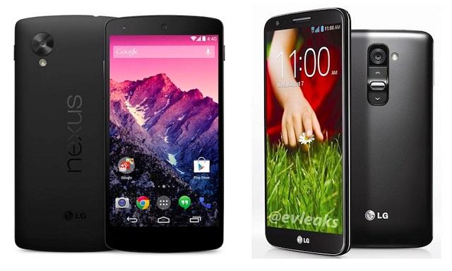 Nexus 5 và LG G2