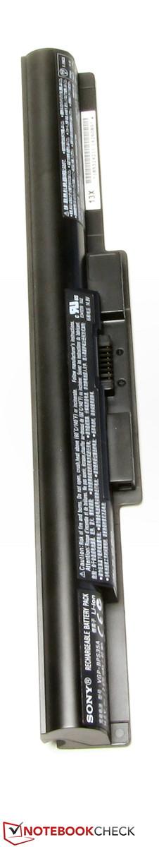 Thanh pin nặng 215g có công suất 40 Wh