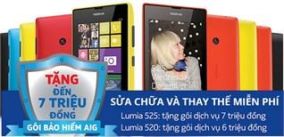 Gói dịch vụ bảo hiểm cho Nokia Lumia 525 và Nokia Lumia 520