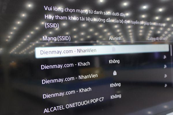Hướng dẫn kết nối mạng với Tivi Sony 8