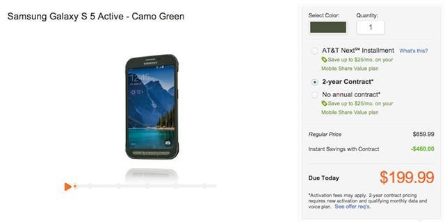 Samsung Galaxy S5 Active có giá bán 659.99 USD