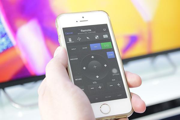 Giao diện remote của chương trình trên iPhone