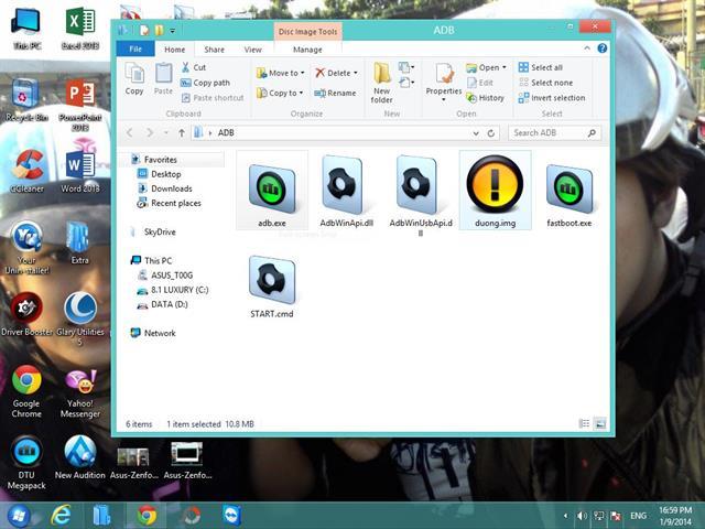 Các bạn nhớ chép file recovery.img vào thư mục ADB luôn nhé. Để dễ gõ lệnh trong Start.cmd, bạn có thể đổi tên cho file Recovery.img như hình minh họa phía trên