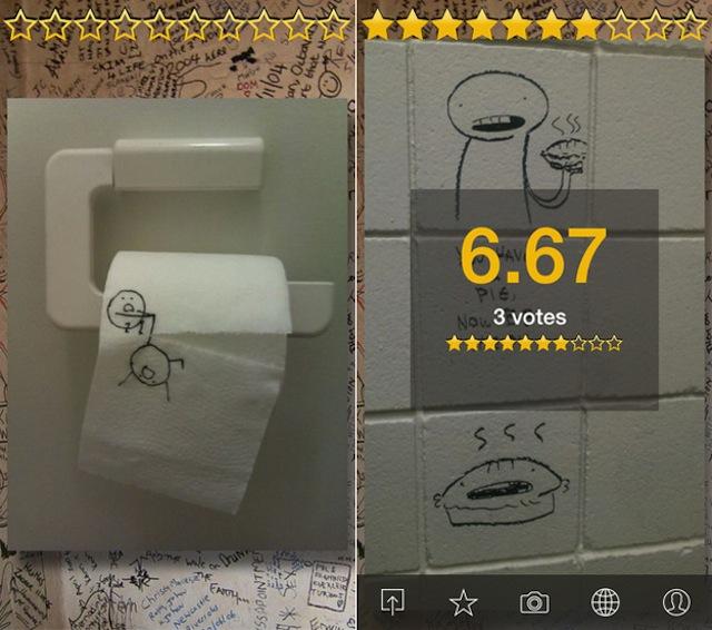 Ứng dụng độc Rest Room Gallery dành cho người thích sáng tạo trong nhà vệ sinh