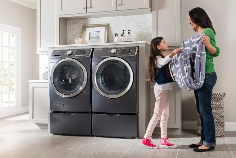 Máy giặt Inverter thường có khối lượng giặt lớn
