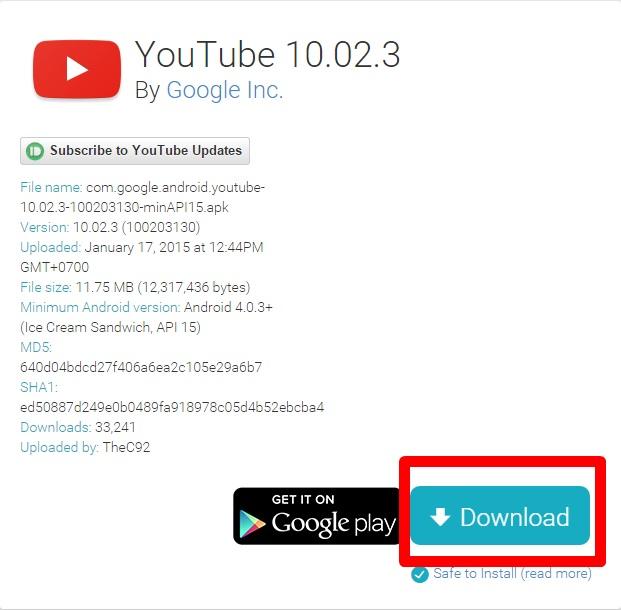 Tải ứng dụng Youtube 10 cho Android về tại đây