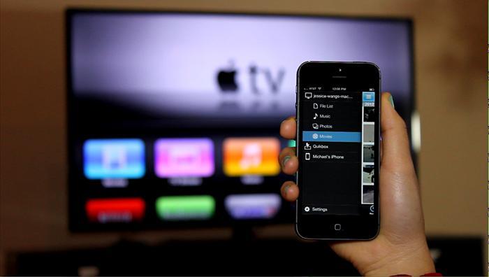 Apple TV được bán với giá 99$ cho phép kết nối điện thoại với tivi