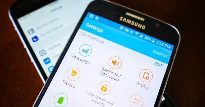 galaxy s6 iphone 6 màn hình