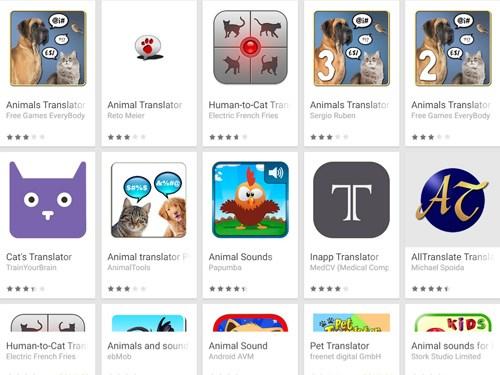 Ứng dụng phiên dịch tiếng động vật (Animal translator apps)