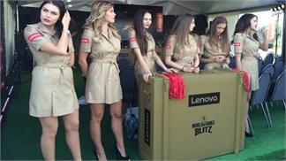 Tràn ngập súng ống, nữ binh 'nóng bỏng' giữa lễ ra mắt phablet Lenovo giá tốt