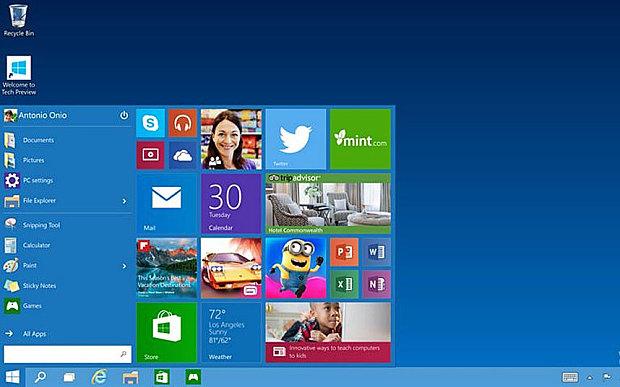 Windows 10 chưa hoàn thiện