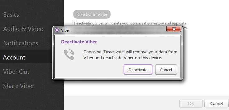 Đăng xuất ứng dụng Viber trên Windows 3