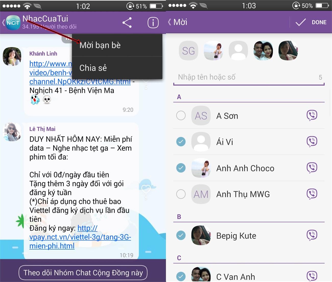 Cách sử dụng Public Chats trên Viber 4