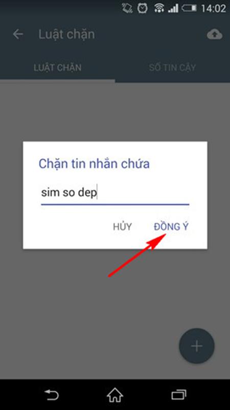 Chọn tính năng 'Chặn theo từ khóa' sau đó nhập từ khóa mà các tin nhắn rác hay chứa từ này