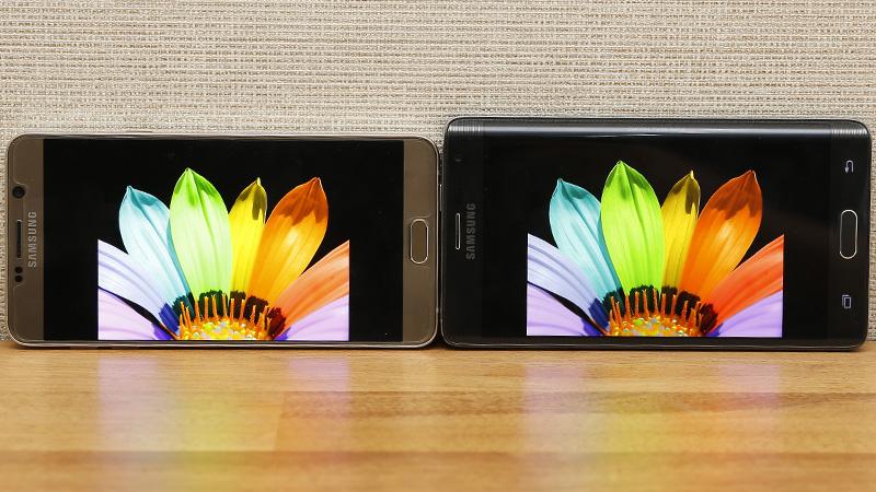 So sánh hình ảnh hiển thị Note 5 và Note Edge