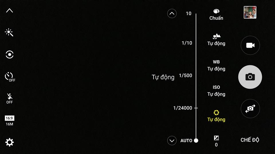 Giao diện tính năng Chuyên nghiệp trên Samsung Galaxy Note 5
