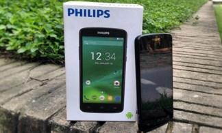 Mở hộp Philips V387: Smartphone giá rẻ thiết kế hầm hố, pin dung lượng 'khủng long'