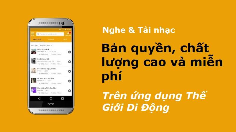Nghe & tải nhạc trên app TGDD