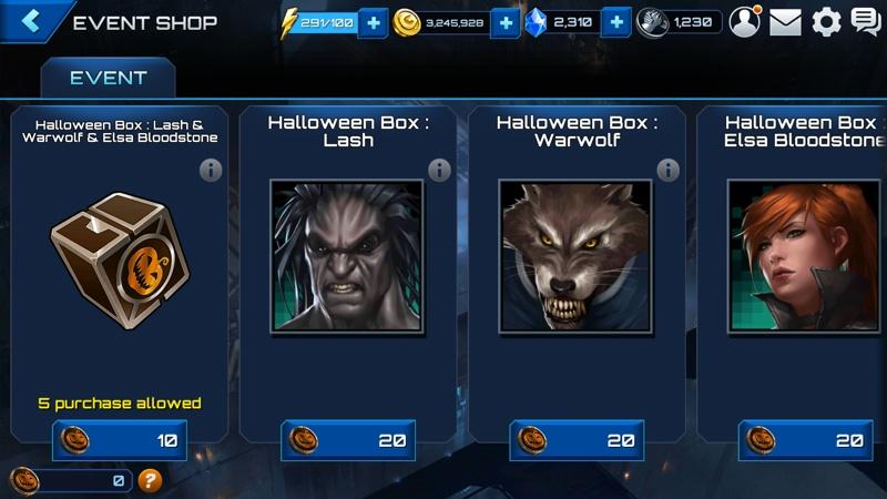 Marvel Future Fight Halloween 5