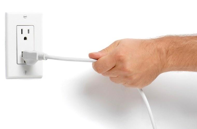 Ngắt nguồn điện để đảm bảo an toàn