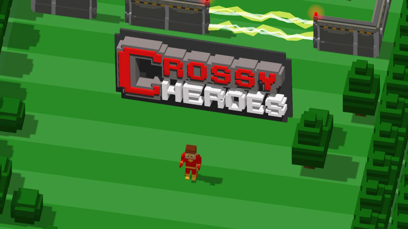 Crossy Heroes Menu