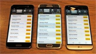 Đọ tốc độ đọc ghi dữ liệu giữa HTC 10, Galaxy S7 Edge và LG G5