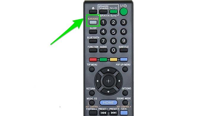 Nút KARAOKE trên remote