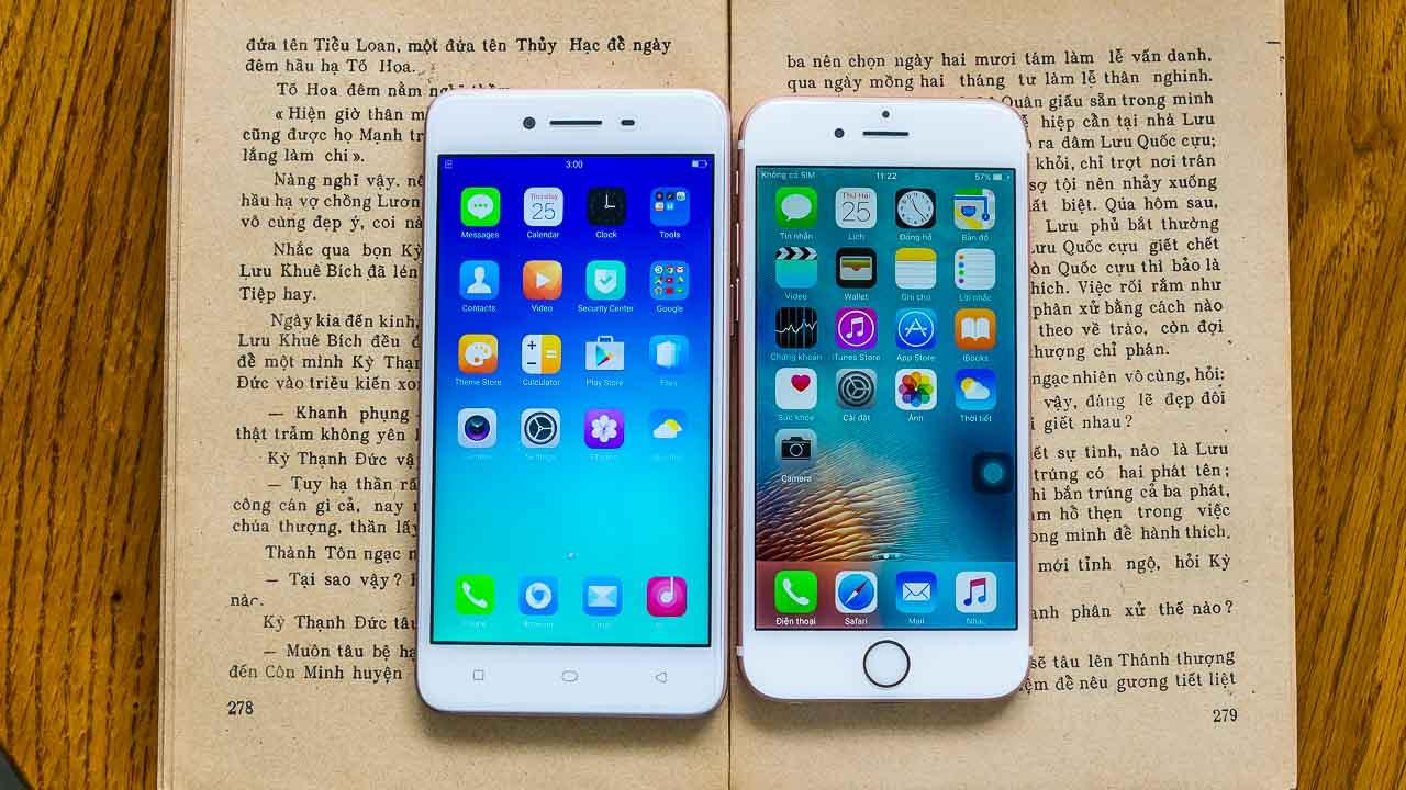 So sánh] Thiết kế của Oppo A37 giống iPhone 6s bao nhiêu phần trăm?