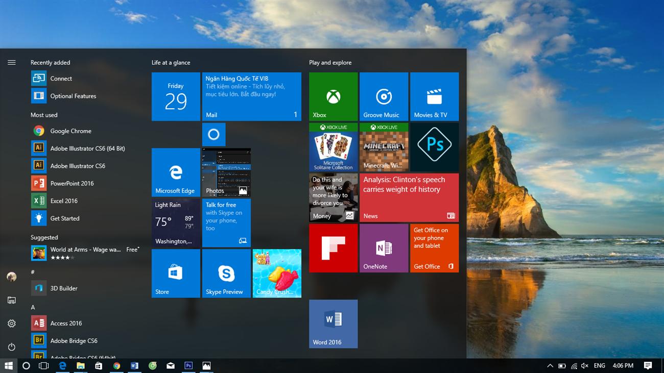 Trải nghiệm Windows 10 Anniversary