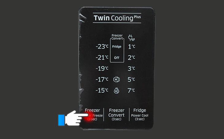 Điều chỉnh nhiệt độ ngăn đá
