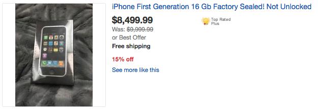 Quên iPhone 7 đi, đẳng cấp bây giờ phải xài… iPhone 2G với giá cả trăm triệu