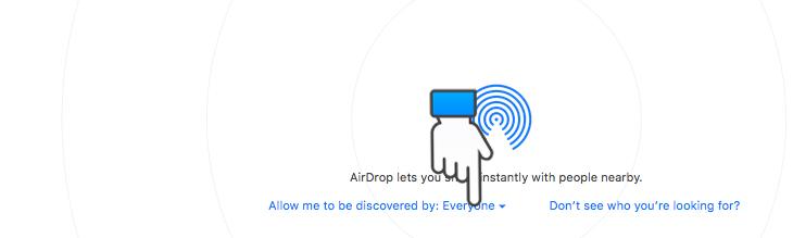 Bật AirDrop trên máy tính