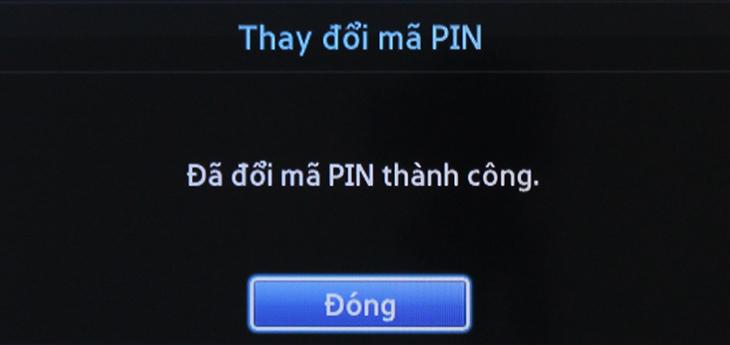 Đổi mã PIN thành công