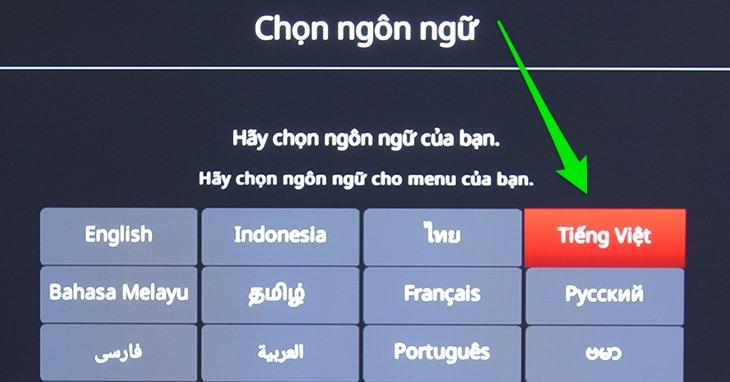 Chọn ngôn ngữ là Tiếng Việt