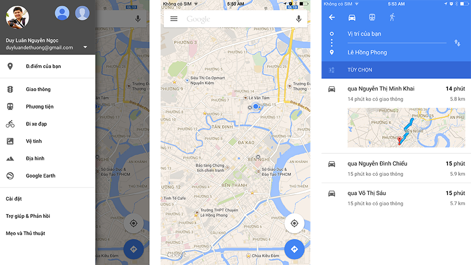 Ứng dụng Google Maps