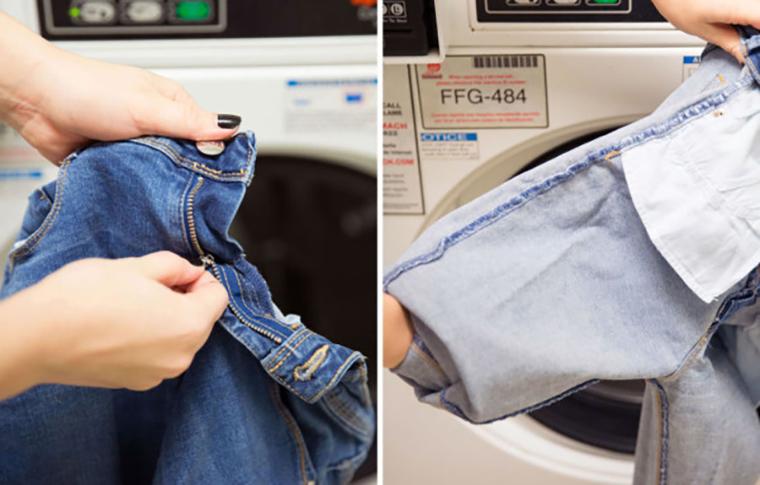 Quần áo có khóa kéo dễ bị mắc trong lồng giặt, dẫn đến hư máy
