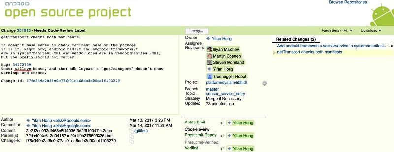 Thiết bị có tên mã Walleye xuất hiện trên mã nguồn AOSP