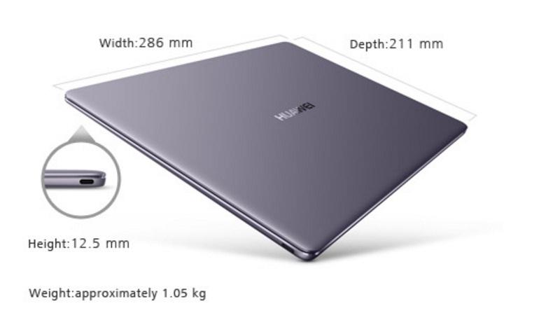 Huawei gioi thieu laptop 13 inch vien sieu mong canh tranh voi MacBook Surface