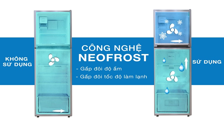 Làm lạnh kép NeoFrost với 2 dàn lạnh độc lập