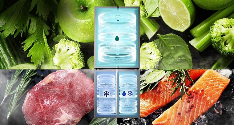 Hệ thống 3 dàn lạnh độc lập làm lạnh tối ưu ngay cả khi đóng mở tủ nhiều lần