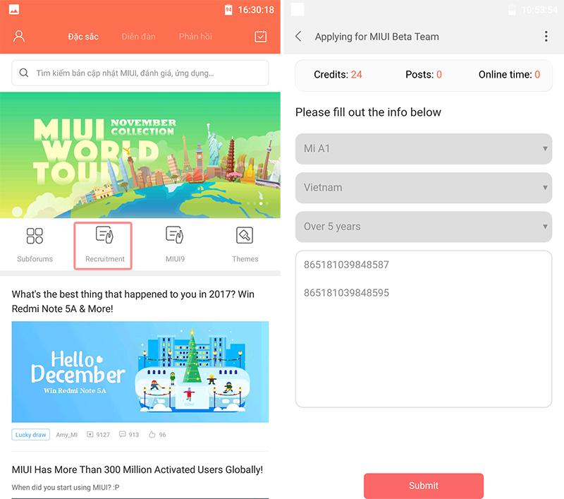 Hướng dẫn Đăng ký Android 8.0 cho Xiaomi Mi A1