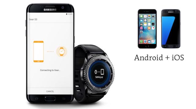 Samsung Gear S3 frontier LTE - Tương thích rất tốt với Android và cả iOS