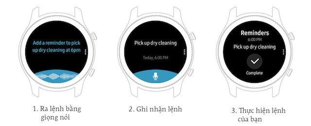 Samsung Gear S3 Classic - Ra lệnh bằng giọng nói