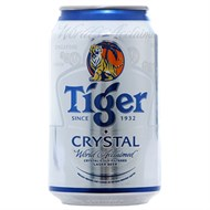 Bia Tiger Crystal bạc lon 300ml