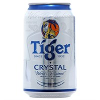 Bia Tiger Crystal bạc lon 300ml