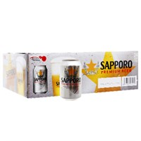 Bia Sapporo bạc lon 330ml (thùng 24 lon)