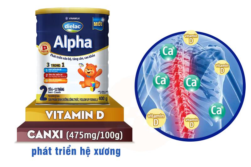 Sữa bột Dielac Alpha 2 400g (cho bé 6-12 tháng)