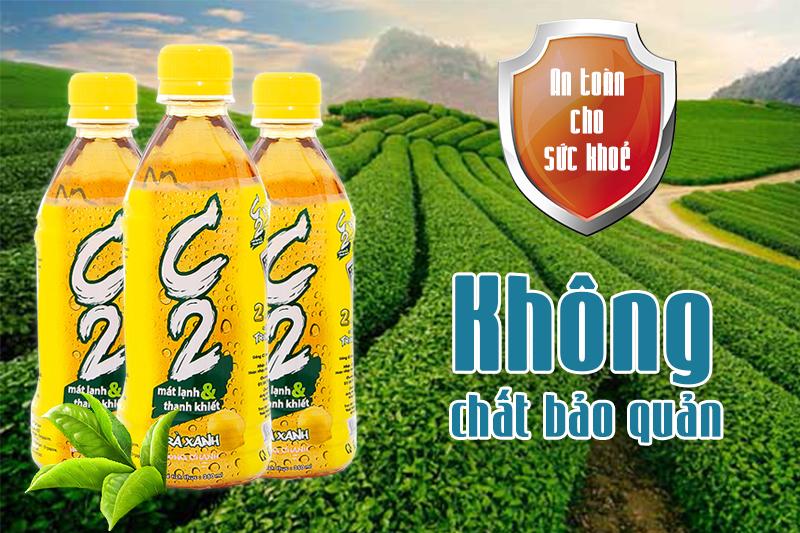 C2 Trà Xanh hương Chanh chai 360ml