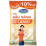 Sữa đậu nành Vinamilk gấp đôi Canxi bịch 220ml
