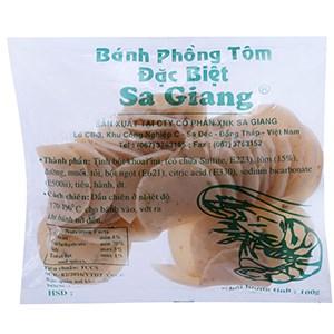 Bánh phồng tôm đặc biệt Sa Giang 100g